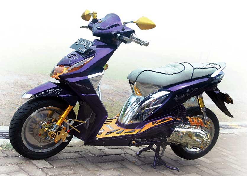 Honda Beat 08 Amuntai Sensasi Modif Elegan Nan Mewah
