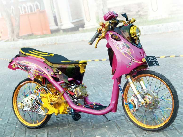 Foto Motor Mio J Modifikasi Blog Motor Keren
